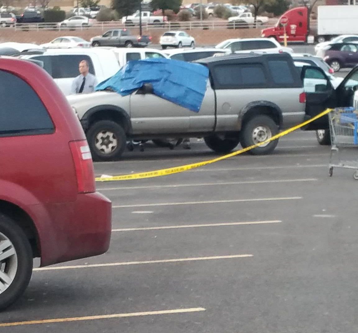 A man was discovered dead in his truck Tuesday at the Washington Wal-Mart. Washington, Utah, Jan. 3, 2017 | Photo courtesy of Matt Thompson, St. George News