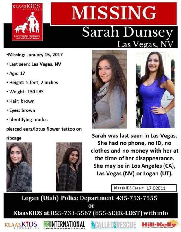 Sarah Dunsey, 17, Missing Since January 15, 2017 - Las Vegas, NV 16602620_10211672607119174_8174206651777239248_n.jpg