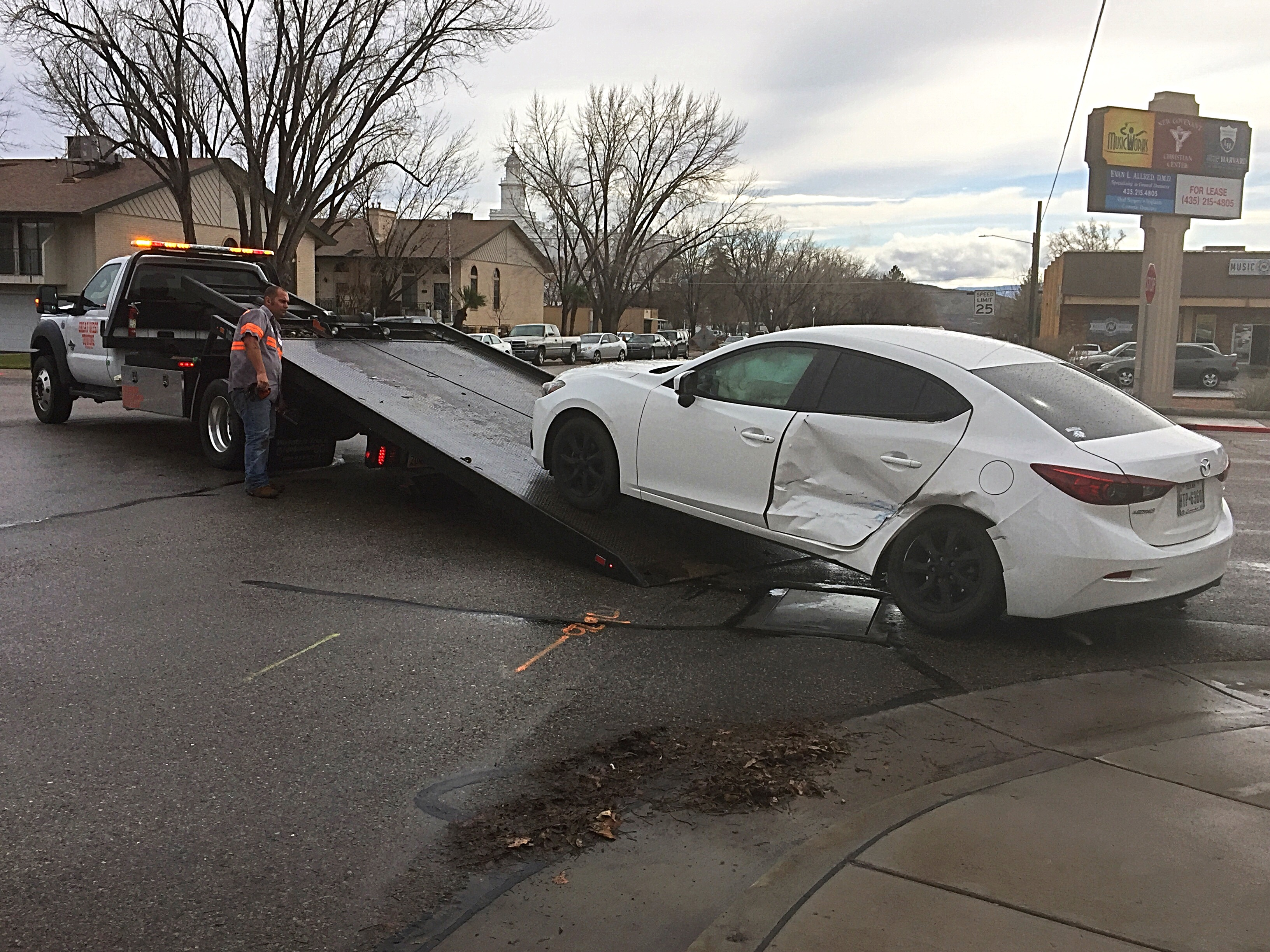 after photo vehicle running following joseph away by stop in is sign hurricane triggers crash utah jcw towed on street mazda a state george witham march archive driver unlicensed news dsc st