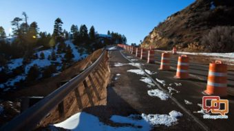 Roadwork continues into Bryce Canyon following landslide