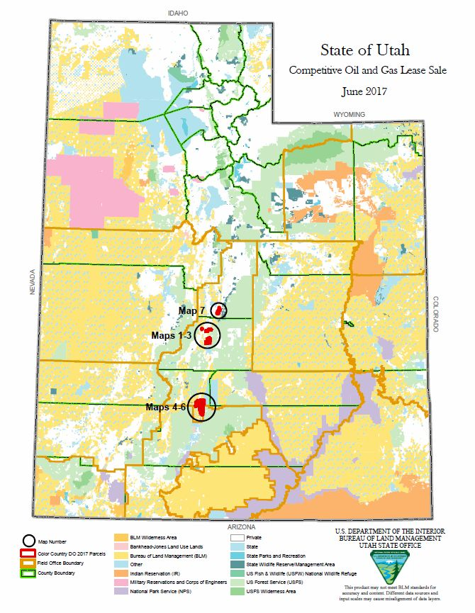 BLM-Utah proposes 20 parcels for oil and gas lease sales, protest ...