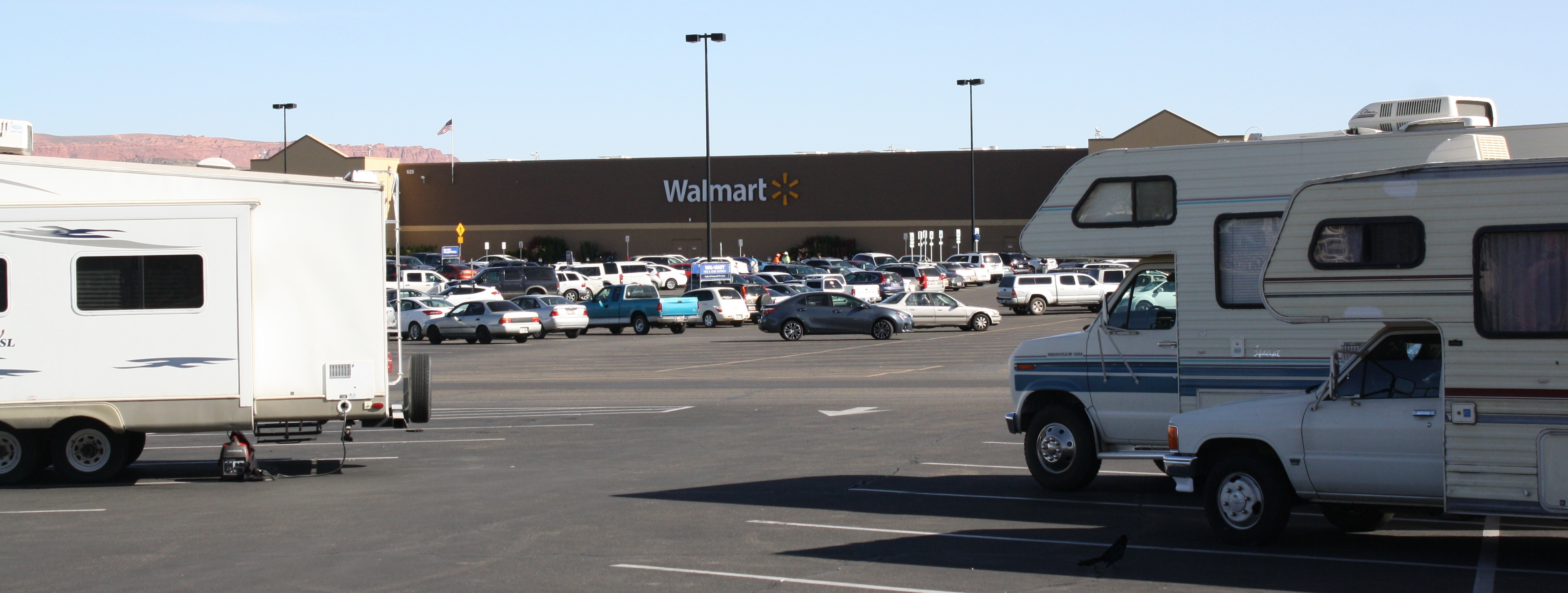rvs parking in the wal mart parking lot in washington utah march 28 2017 photo by reuben wadsworth st george news - Walmart Overnight Jobs