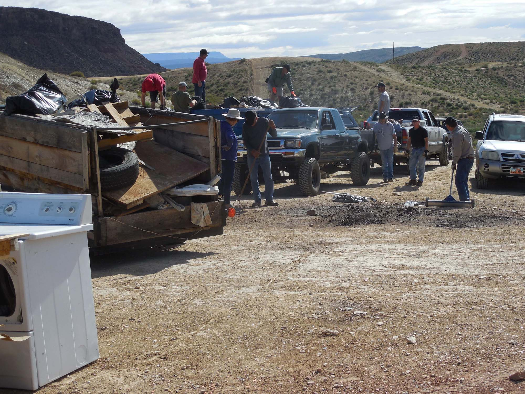 f roaders remove car shooting debris sofas and more from SITLA