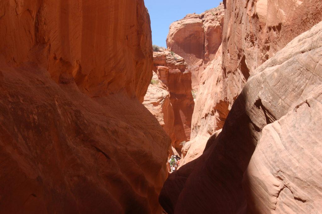Slot canyons near st george