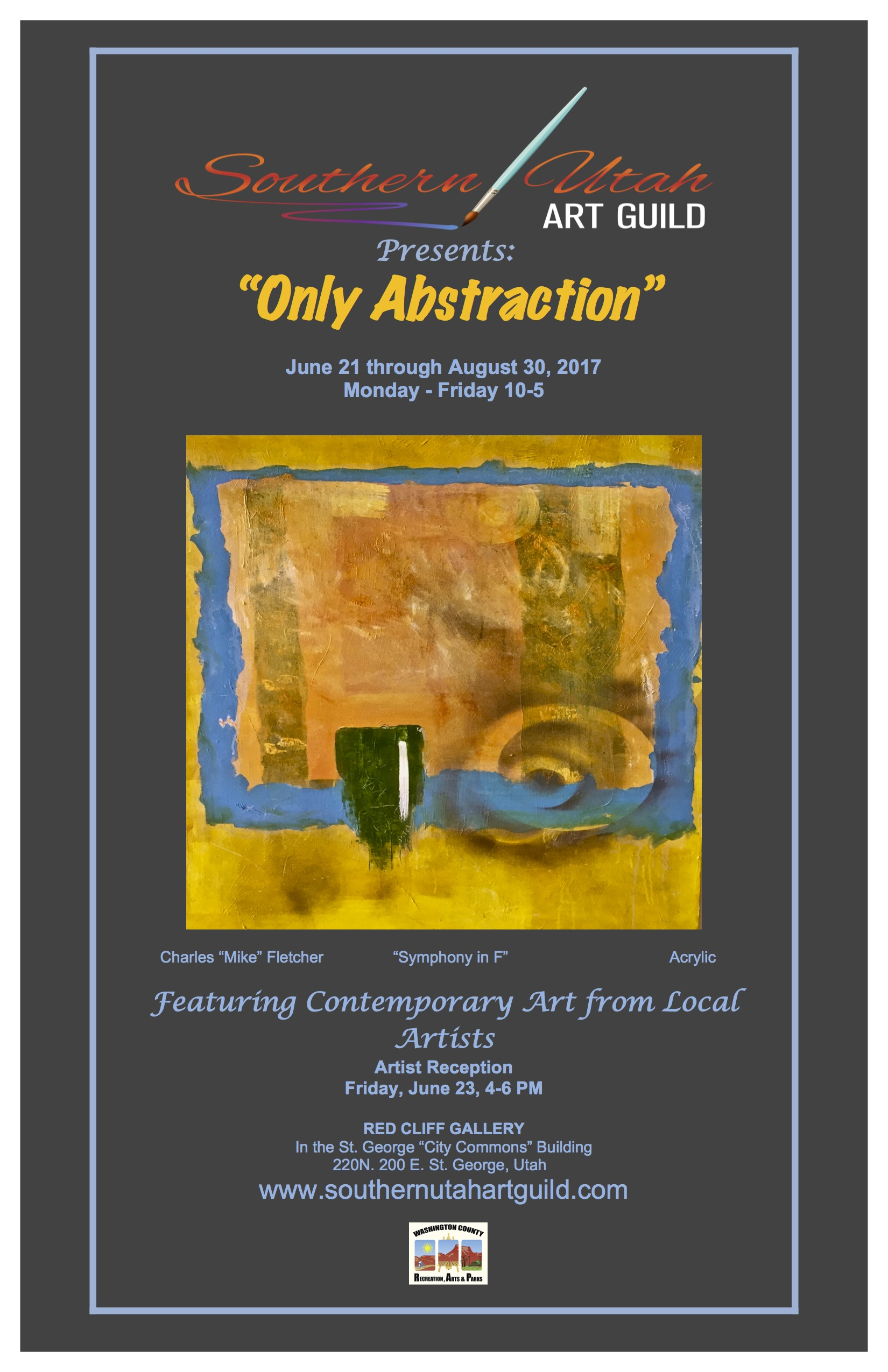 Southern utah art guild announces only abstraction art for St charles craft show 2017