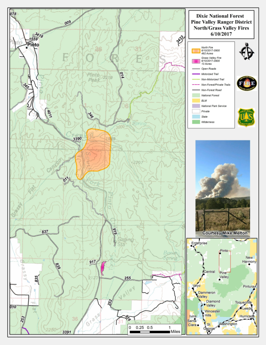 UPDATED: Dixie National Forest fires human-caused, 1 ...