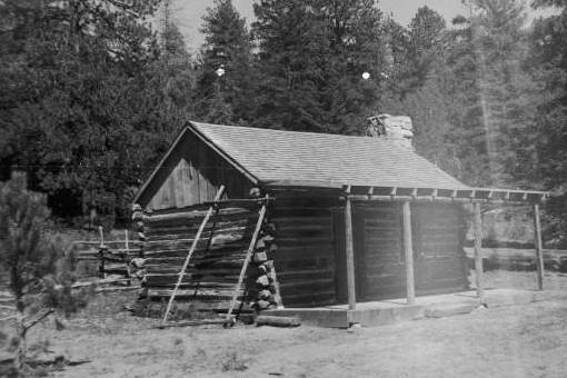 This Historic Photo Shows A Cabin Built For The Filming Of The Popular  1960s Television Series Daniel Boone, Partly Filmed In Duck Creek, Utah, ...