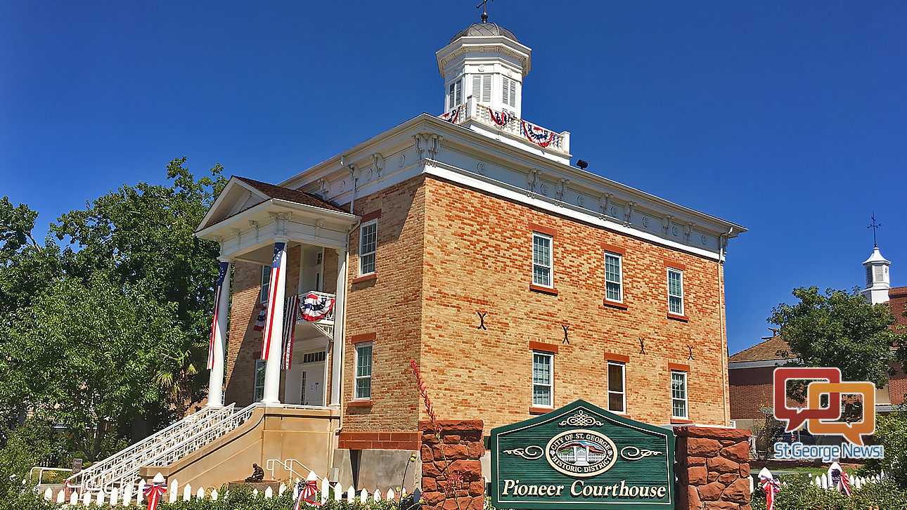 See the Cotton Mission Chapter Room in St. George's Pioneer Courthouse