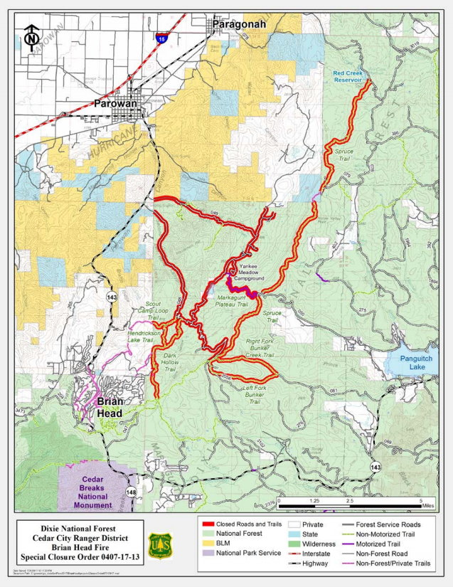 Dixie National Forest revises road closure order in aftermath of ...