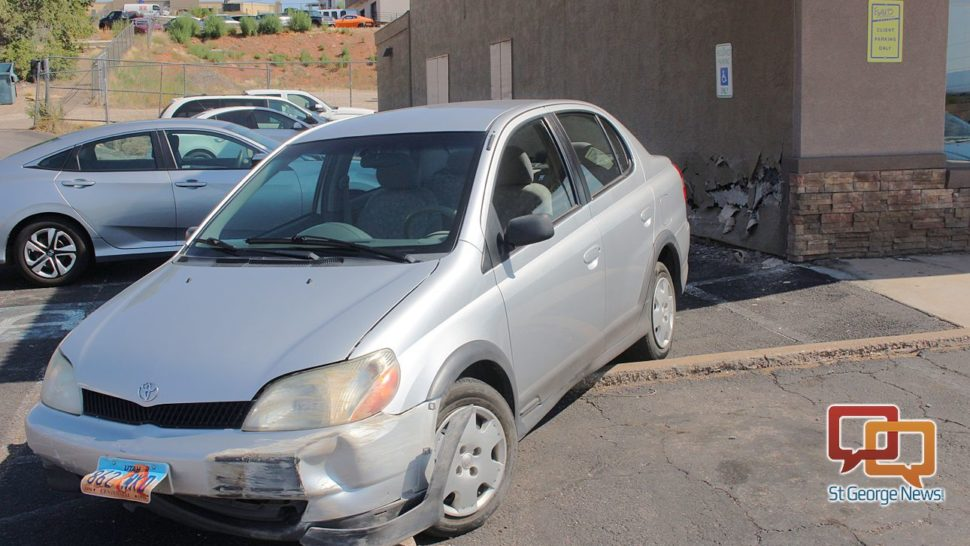 Evans Hairstyling College the west facing wall at evans hairstyling college in st george after a toyota ran into it monday st george utah aug 7 2017 photo by ric wayman A Toyota Sits Outside Evans Hairstyling College With Front End Damage After Hitting The Wall Behind It And A Parked Pontiac Monday