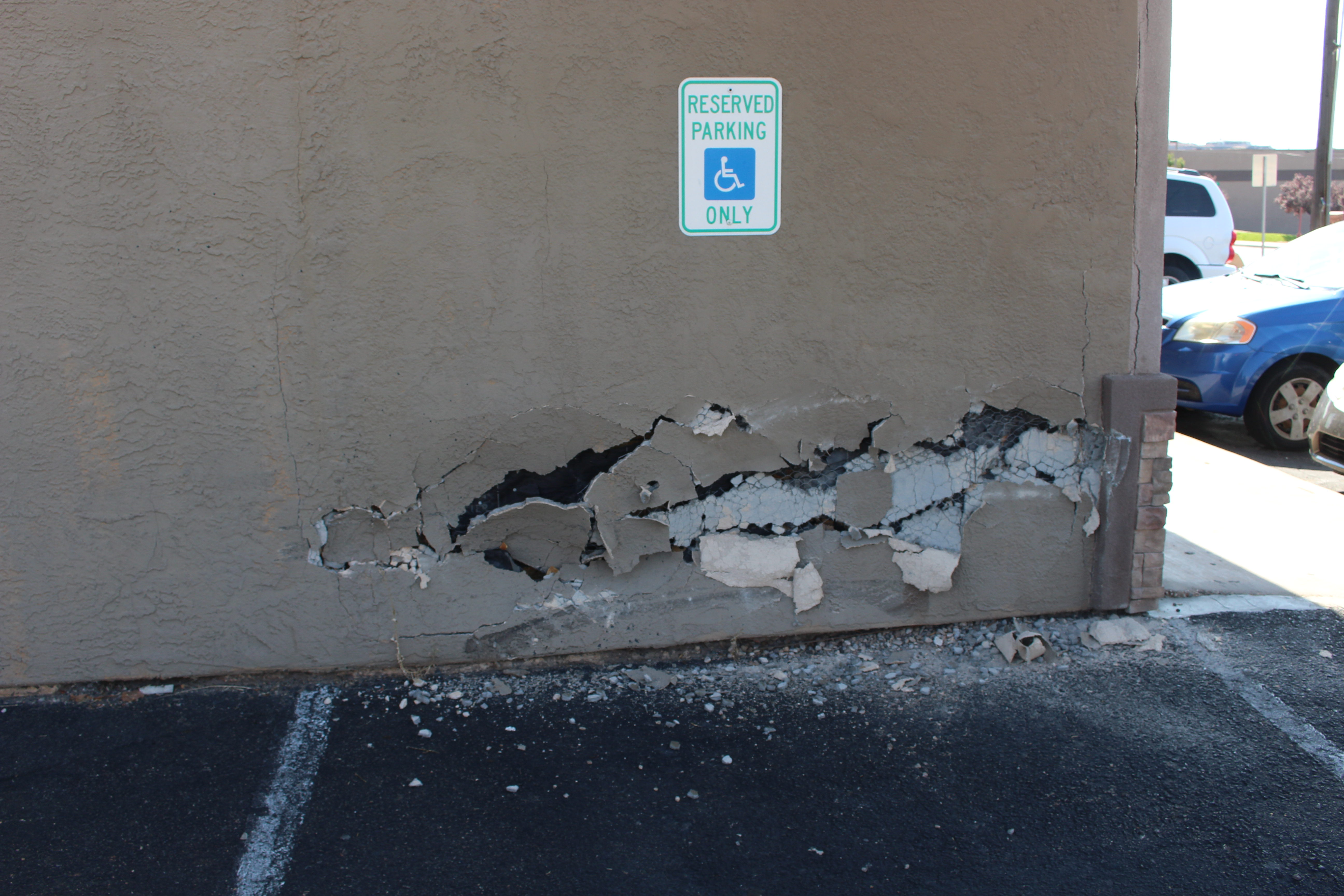 Evans Hairstyling College a toyota sits outside evans hairstyling college with front end damage after hitting the wall behind it and a parked pontiac monday The West Facing Wall At Evans Hairstyling College In St George After A Toyota Ran Into It Monday St George Utah Aug 7 2017 Photo By Ric Wayman