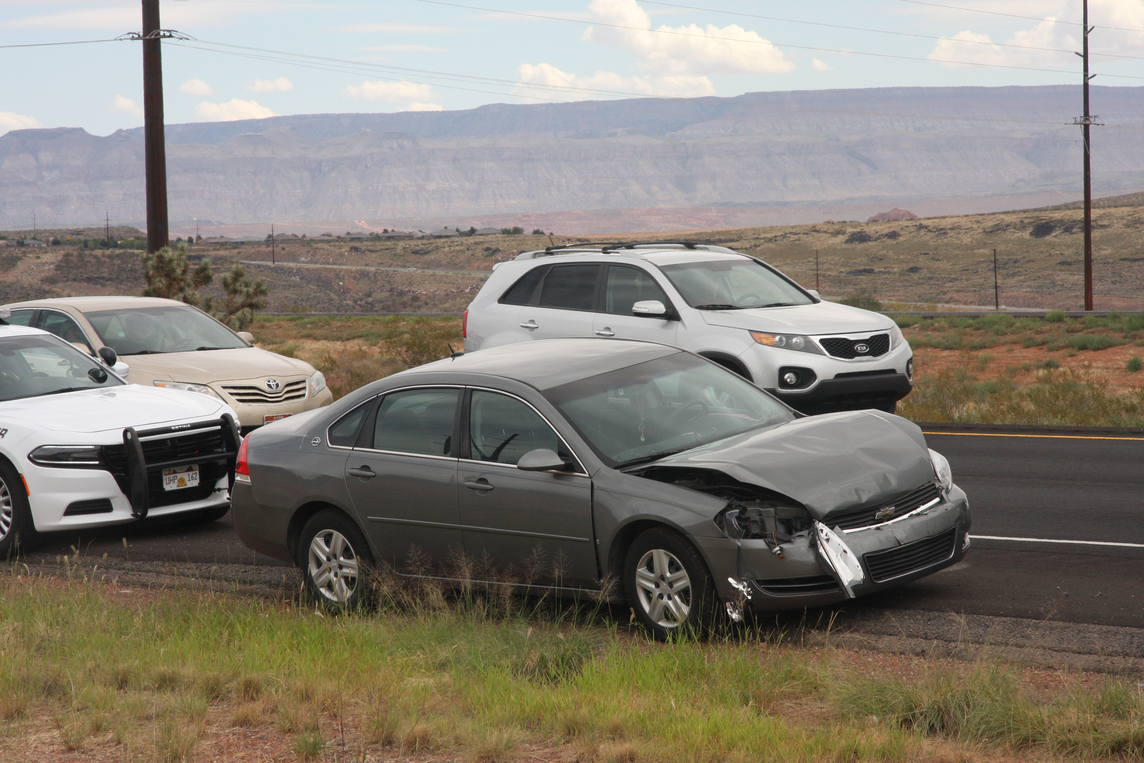 Driver receives minor injuries after rear end collision on I 15