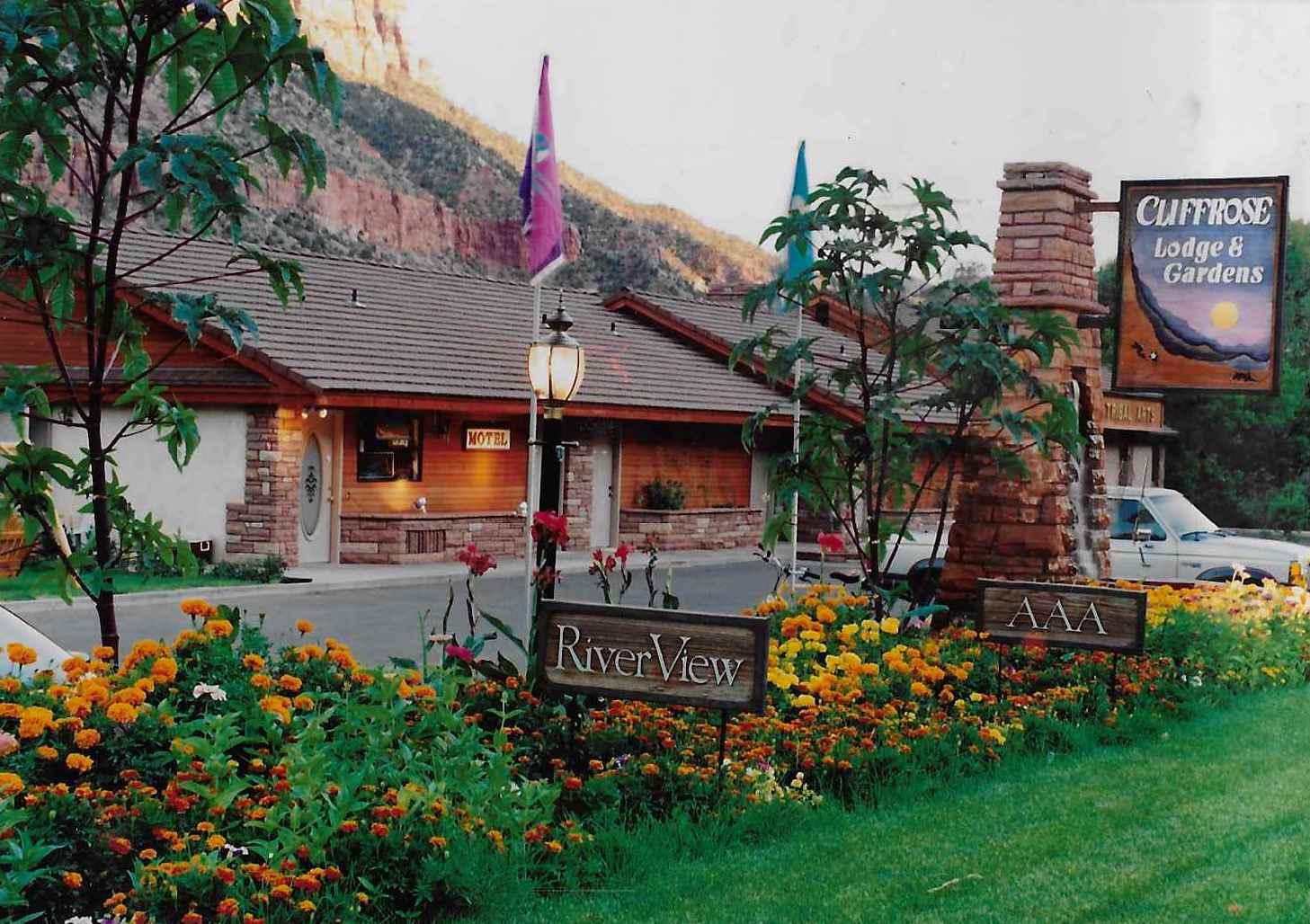 This 1991 Photos Shows The Entrance To The Cliffrose Lodge U0026 Gardens,  Springdale, Utah, Circa 1991 | Photo Courtesy Of The Cliffrose Lodge U0026  Gardens, ...
