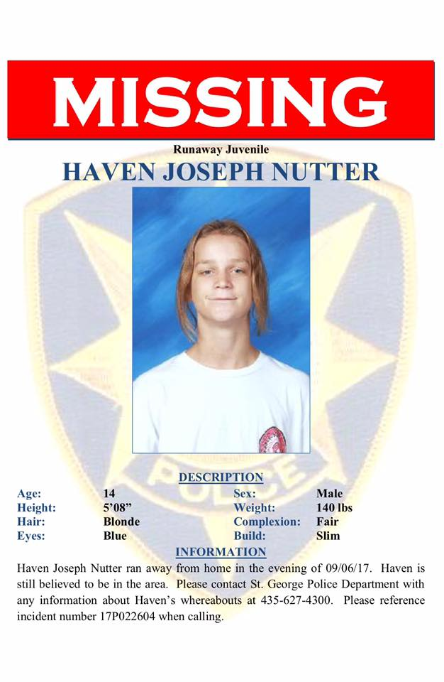 MISSING: 14-year-old Haven Nutter