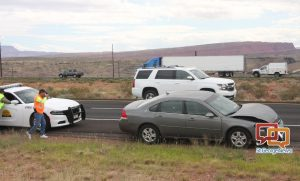 Driver receives minor injuries after rear-end collision on I-15