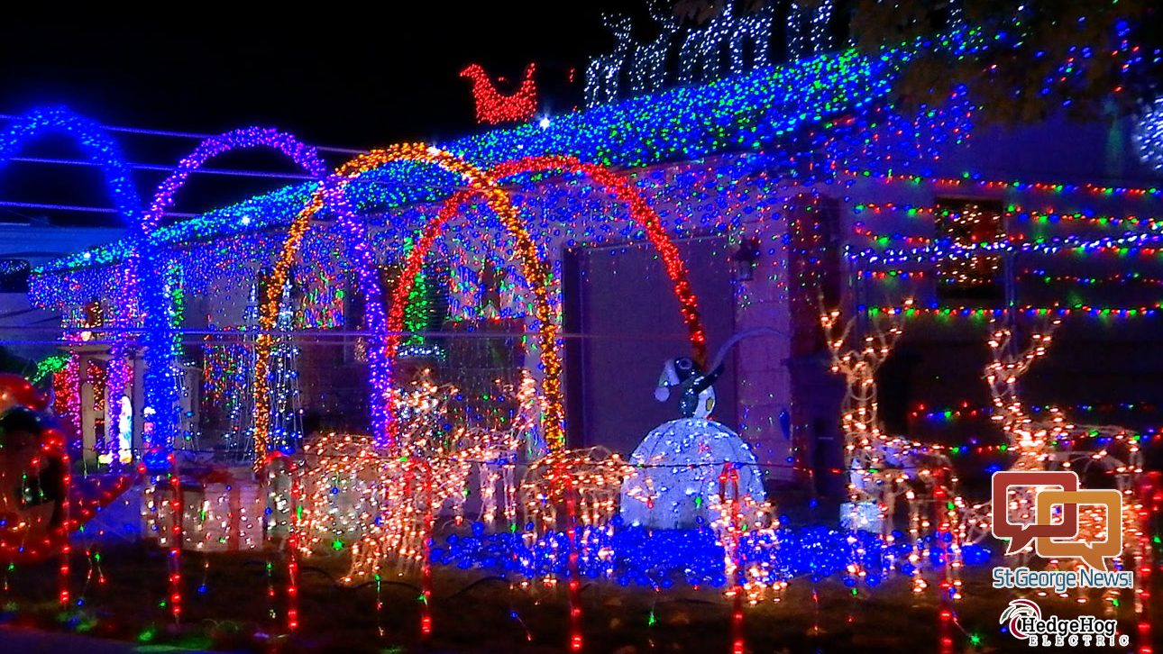 here is your tour map from hedgehog electric to washington county homes in the christmas light spectacular chance to win 300 st george news - Christmas Light Tour