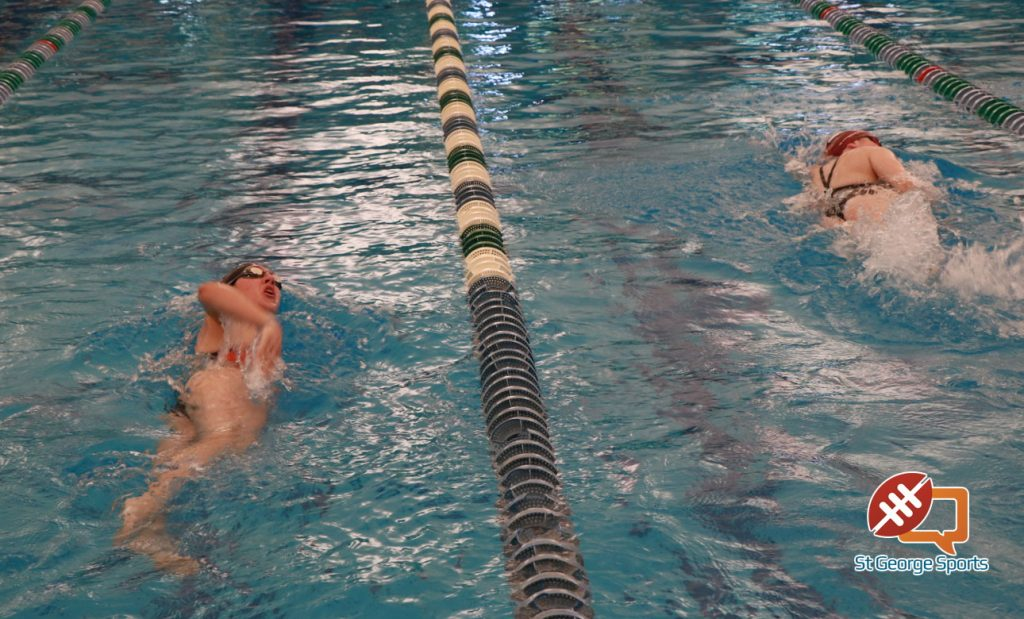 Local teams open high school swim season at the shac st george news for Sand hollow swimming pool st george