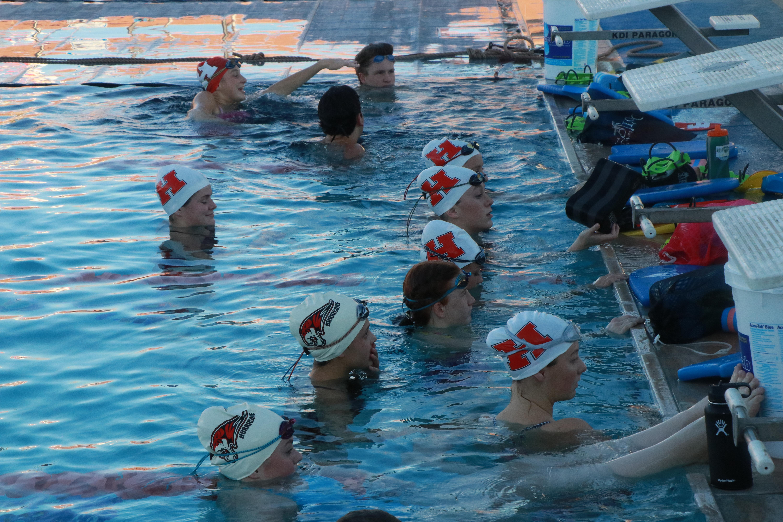 Tigers Go Brrrr Hurricane High Swim Team Practices Outdoors To