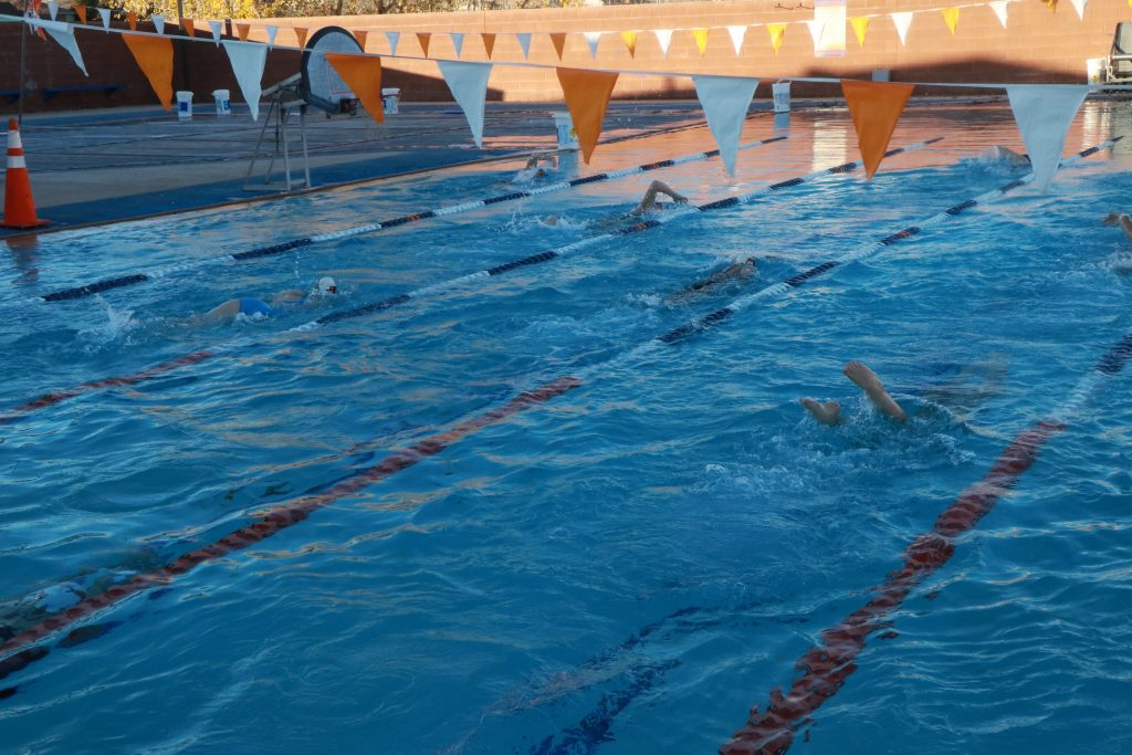 Tigers Go Brrrr Hurricane High Swim Team Practices Outdoors To Get Prime Pool Time St