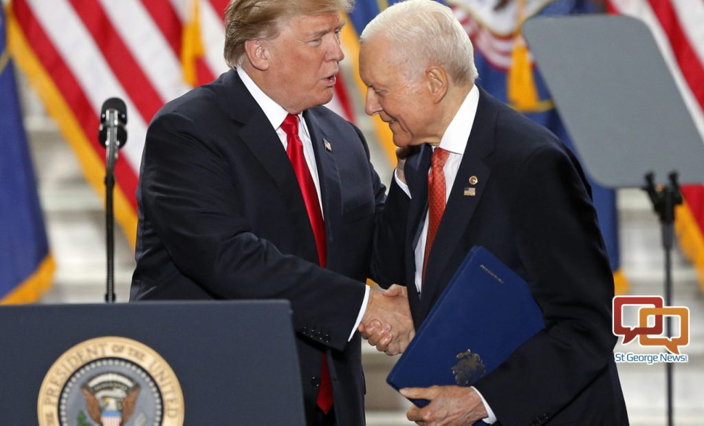 Image result for hatch with trump