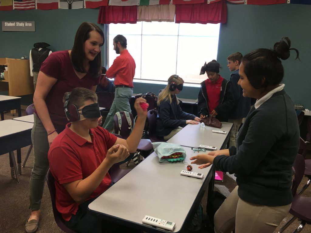 Vista School Students And Staff Simulate Deaf Blindness