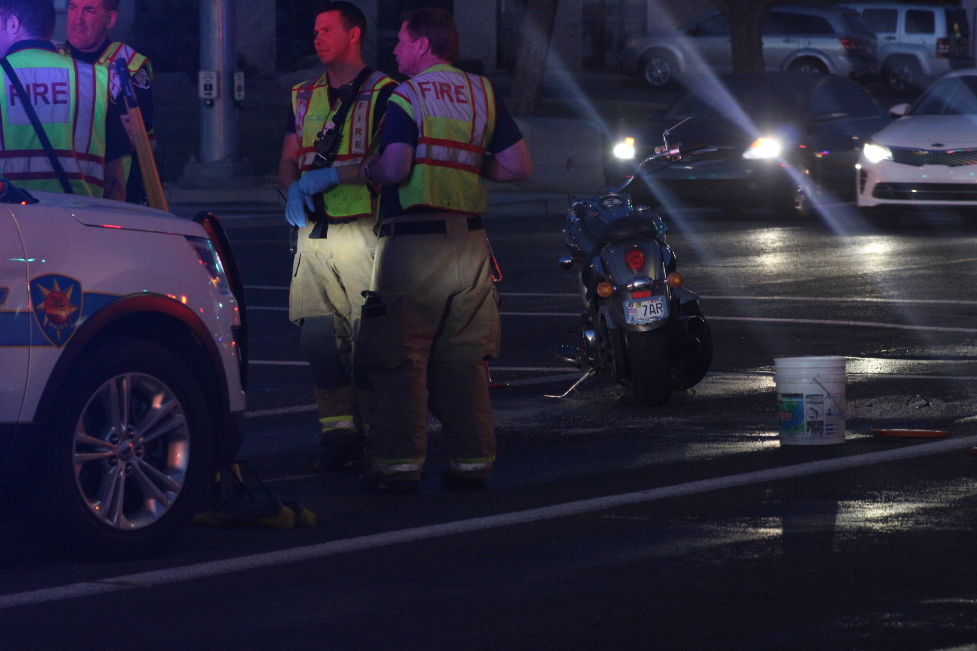 auto-motorcycle crash on riverside drive results in trip to hospital