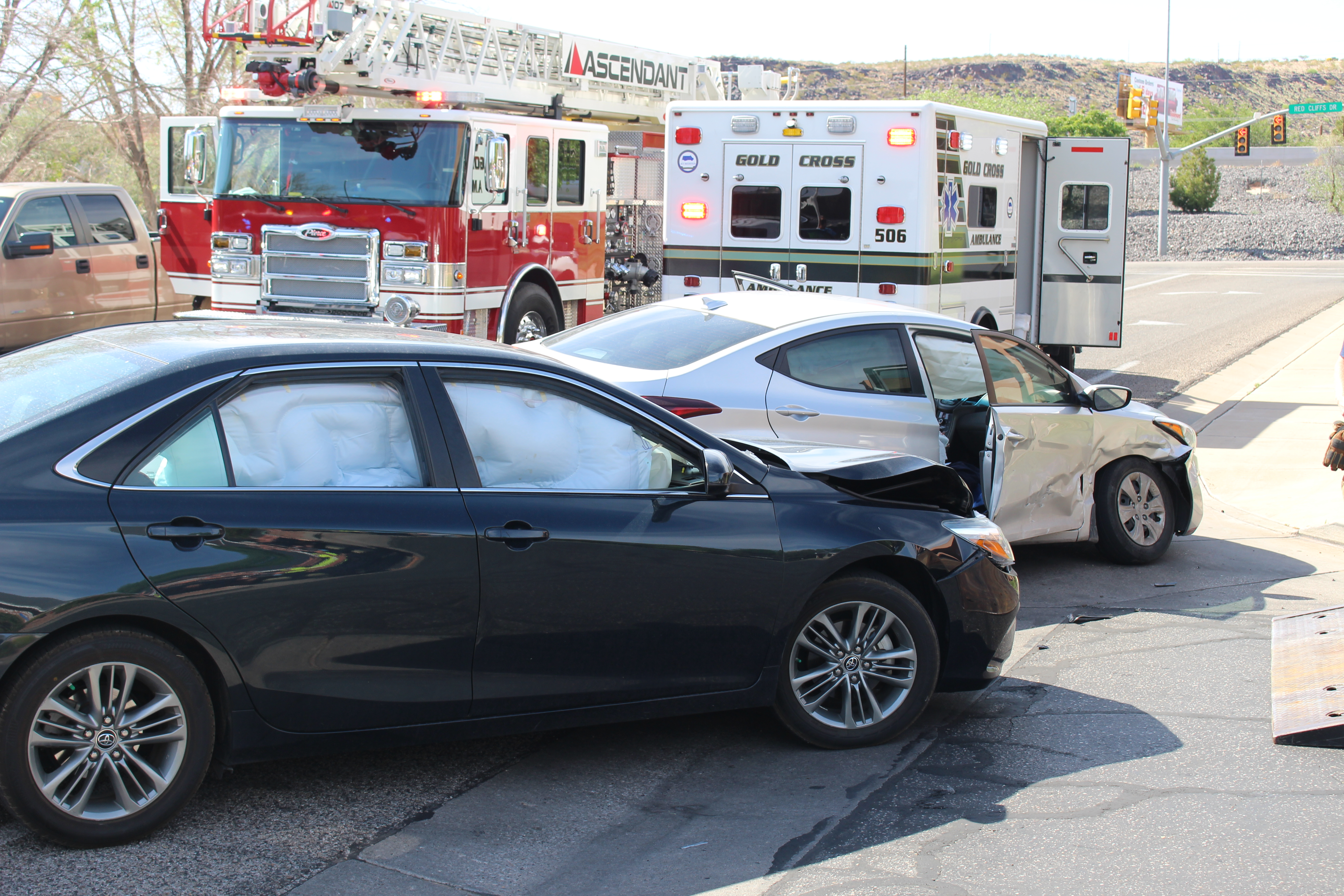 Injured Man Rushed To Hospital After Crash On Mall Drive St George