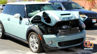 Mini Cooper Sustains Extensive Frontal Damage In Two Vehicle Crash On Brigham Road St George Utah April 3 2018 Photo By Cody Ers News