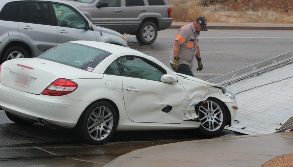 Crash on medical center drive sends 2 to hospital st for Mercedes benz st george utah
