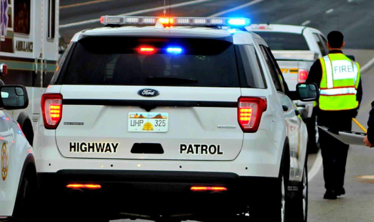Utah Highway Patrol Vehicles At Exit 4 On I 15 Tending To Crash St George November 2016