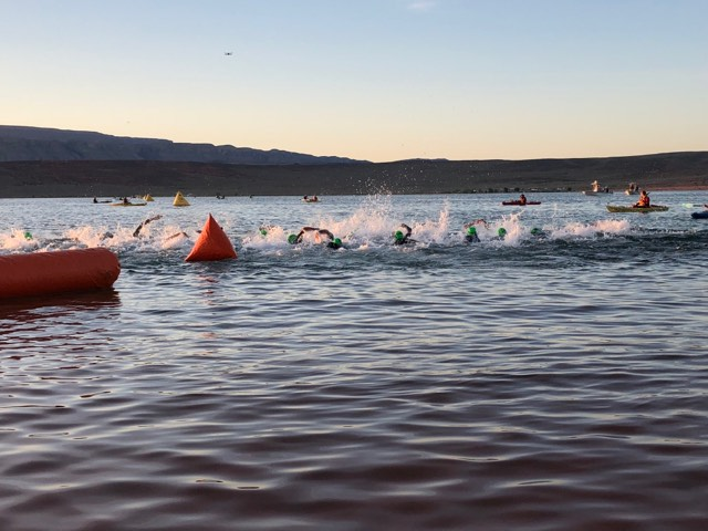 News live 2018 ironman 70 3 st george photos results st george news for Sand hollow swimming pool st george