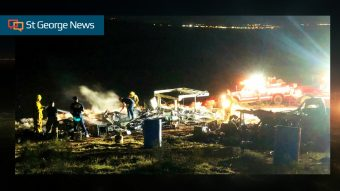 Suspicious' fire destroys 2 trailers, pickup truck on