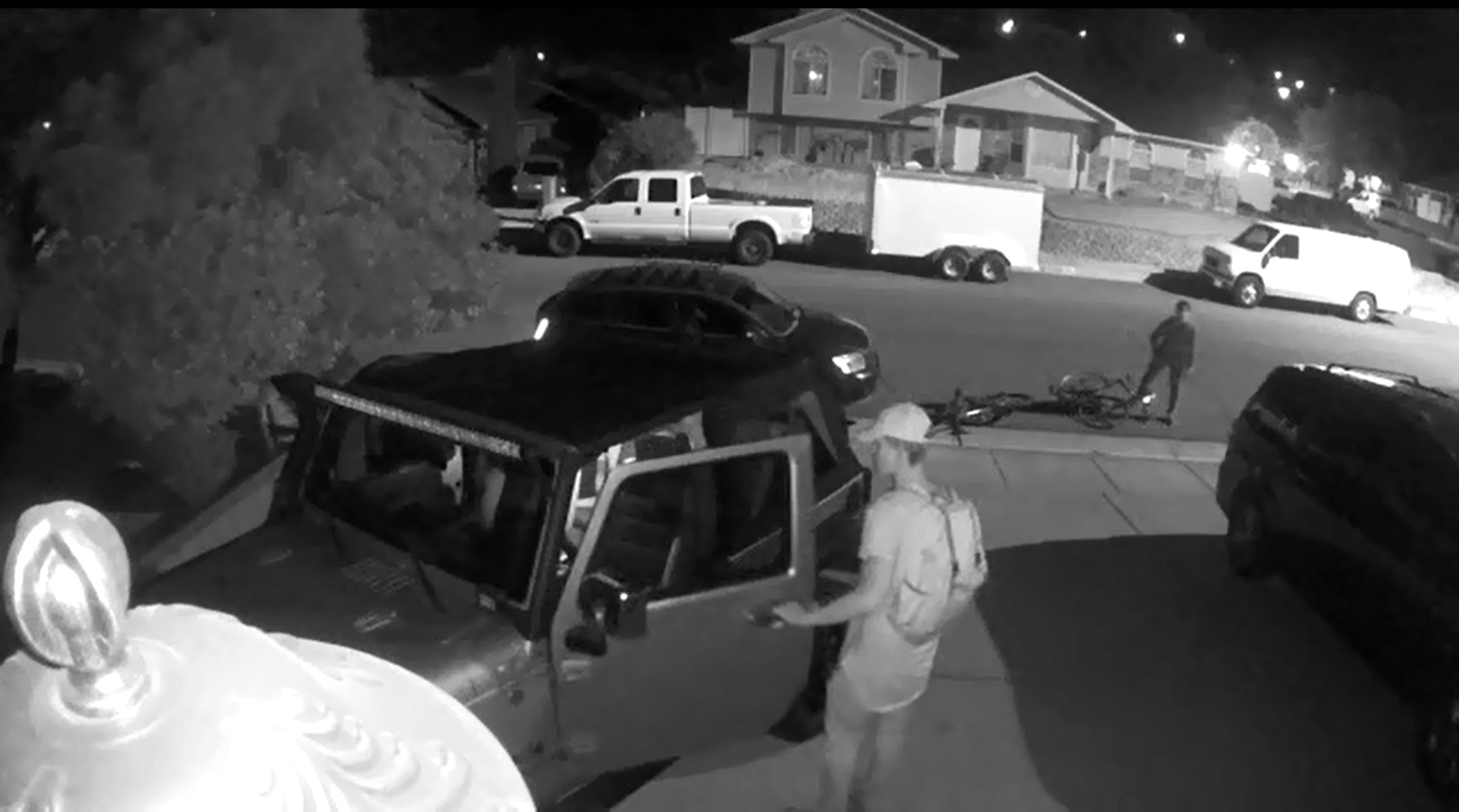 surveillance video shows suspected vehicle burglars in the act at st