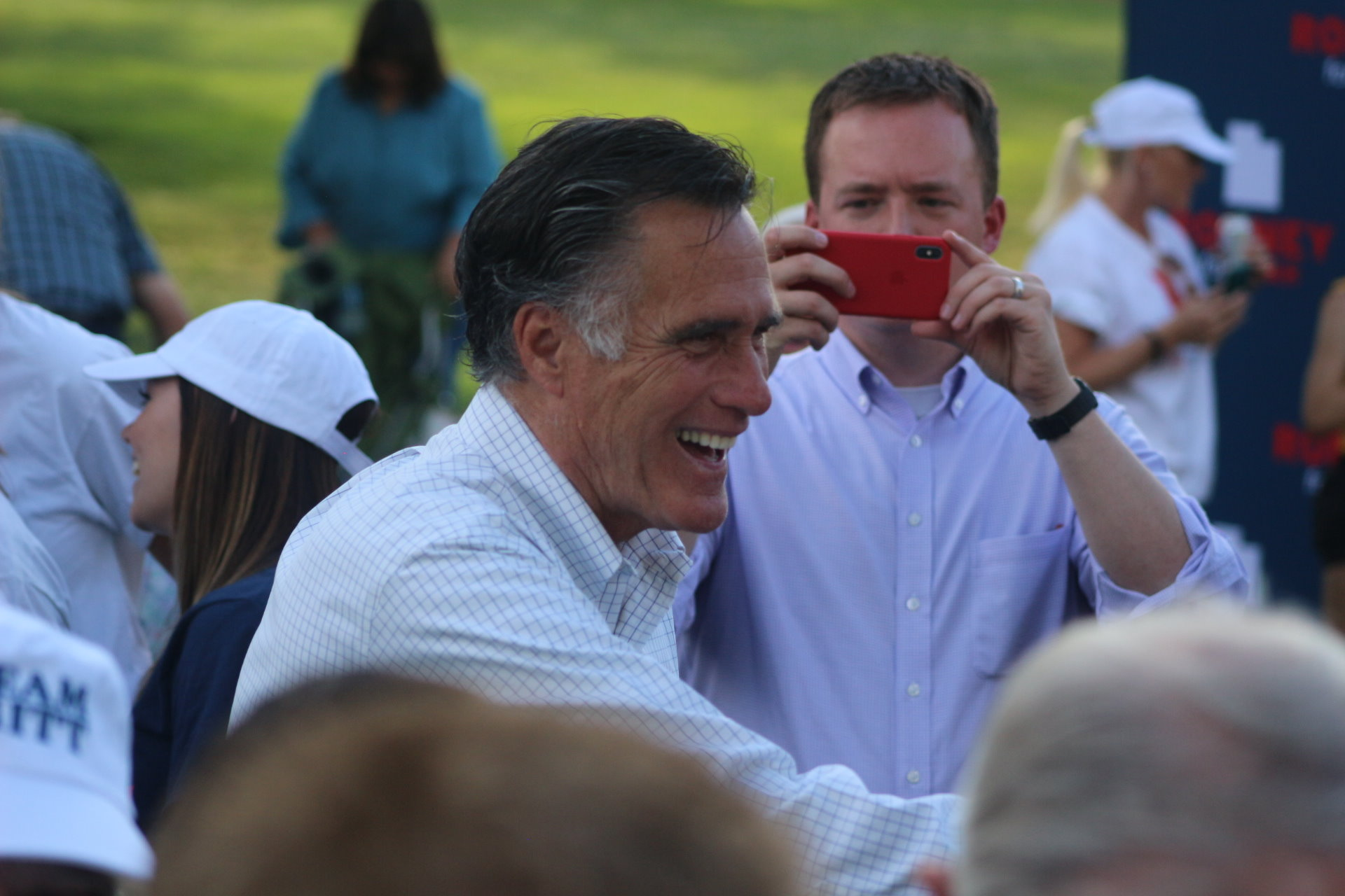 Romney Touts His Connections As Advantage Over Opponent Visits