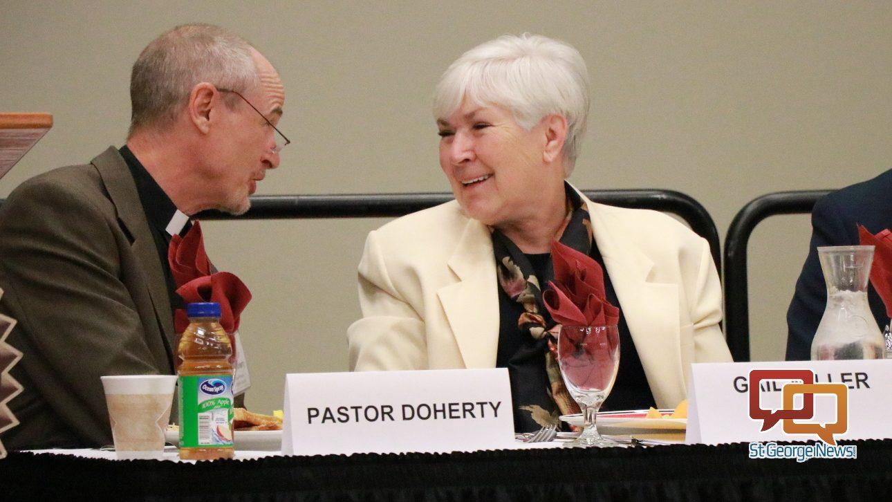 Prayer makes a difference, Gail Miller tells interfaith ...