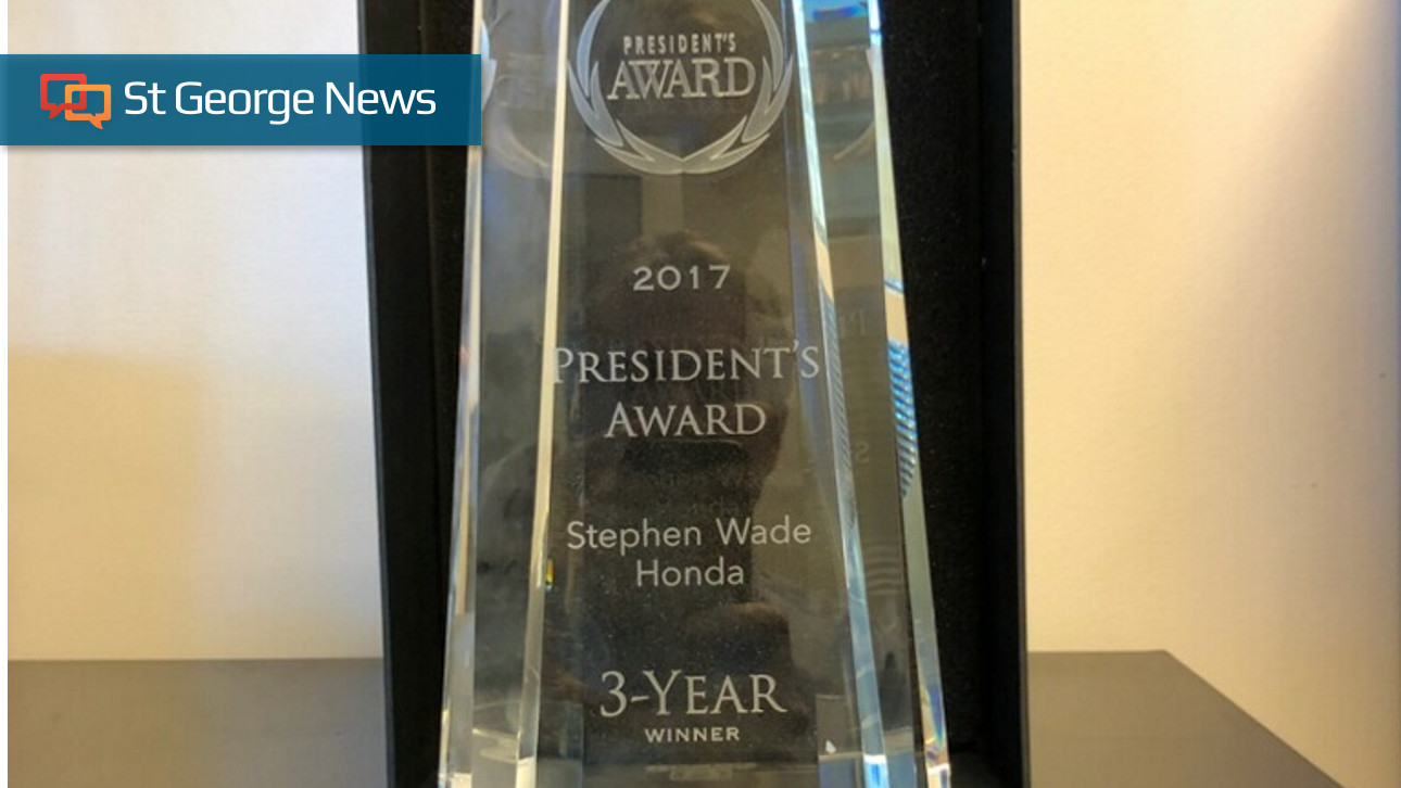 Stephen Wade Honda wins President's Award from American ...