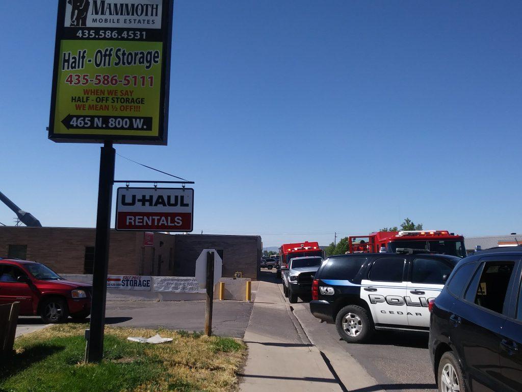 Emergency Crews Respond To A Fire In Cedar City ...