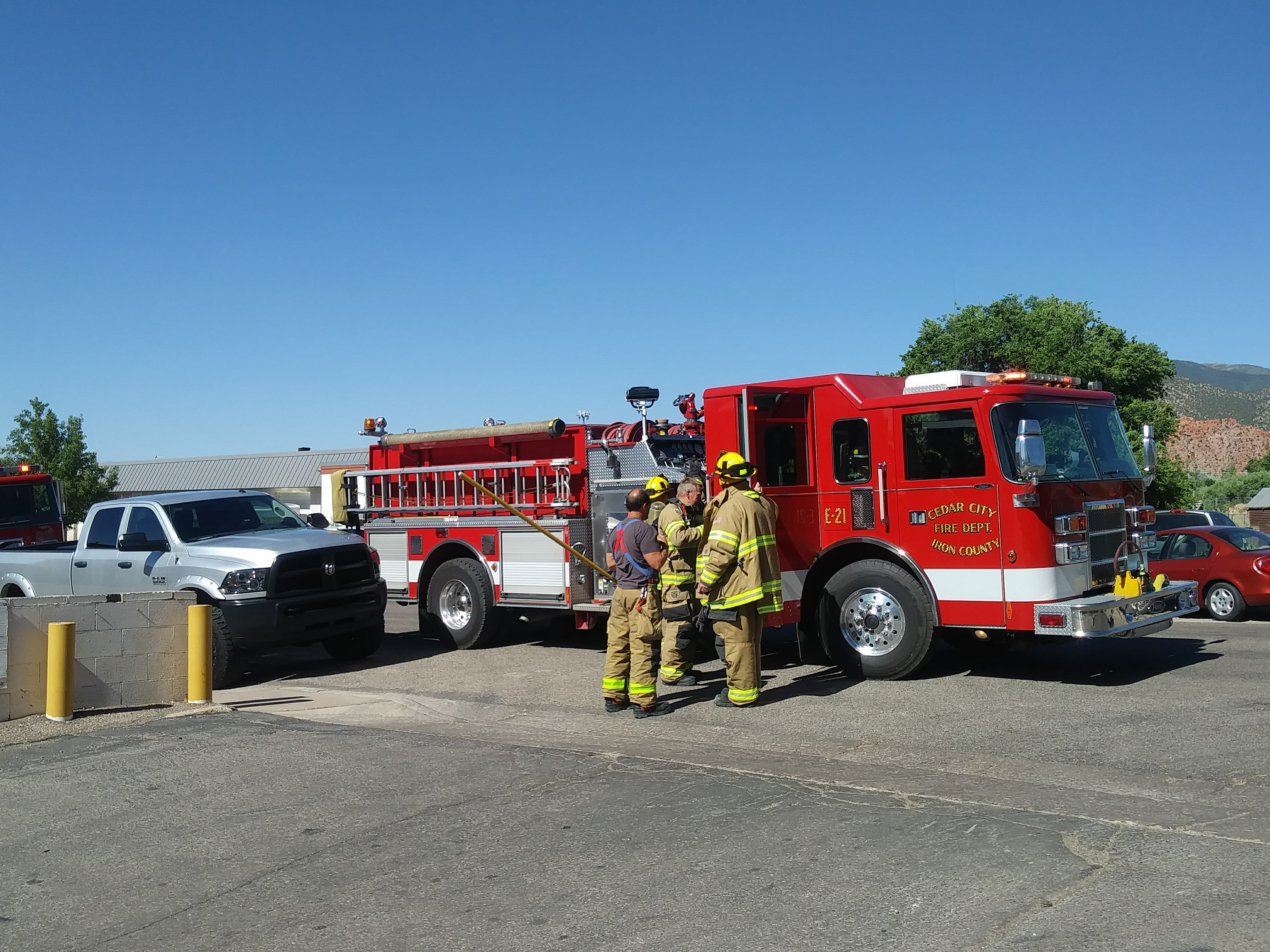 Firefighters Respond To A Fire In A Storage Unit In Cedar City, Utah, June  4, 2018 | Photo Courtesy Of Carin Miller, Cedar City News/St. George News