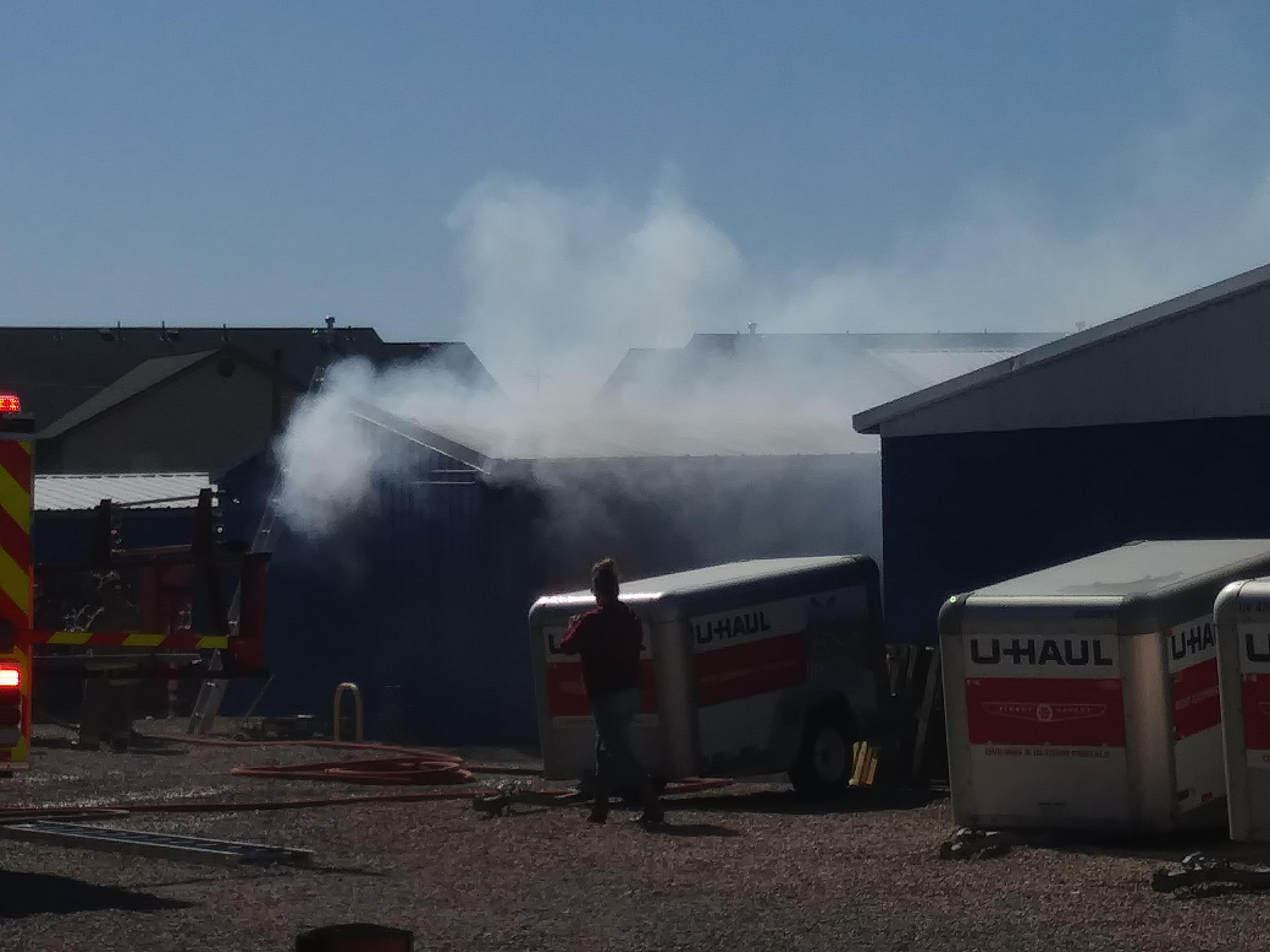 Attirant Smoke Billows From A Fire In A Storage Unit In Cedar City, Utah, June 4,  2018 | Photo Courtesy Of Carin Miller, Cedar City News/St. George News