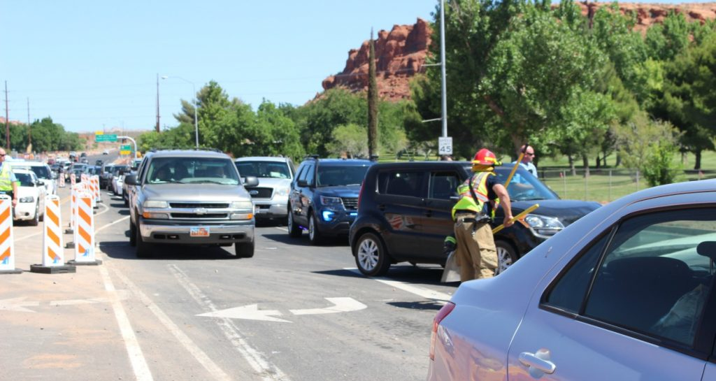 Car Lands 200 Feet Away During 4 Vehicle Crash On Bluff
