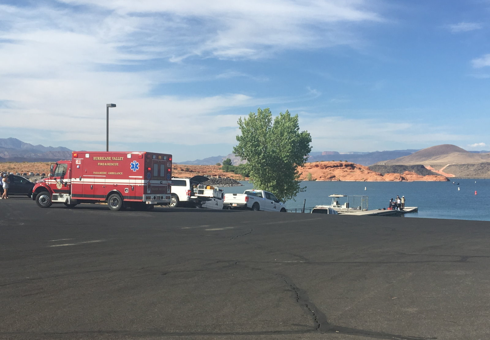Authorities respond to a drowning at Sand