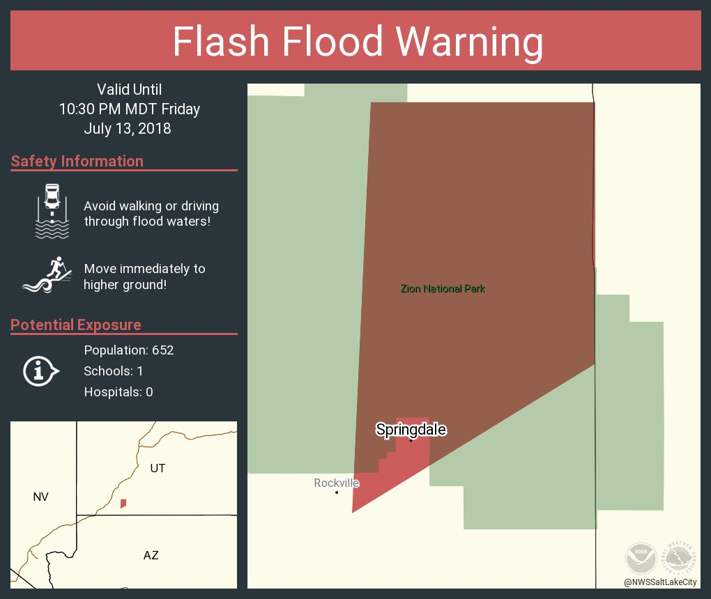 UPDATED: Incoming storm bringing more flash flooding – St George News
