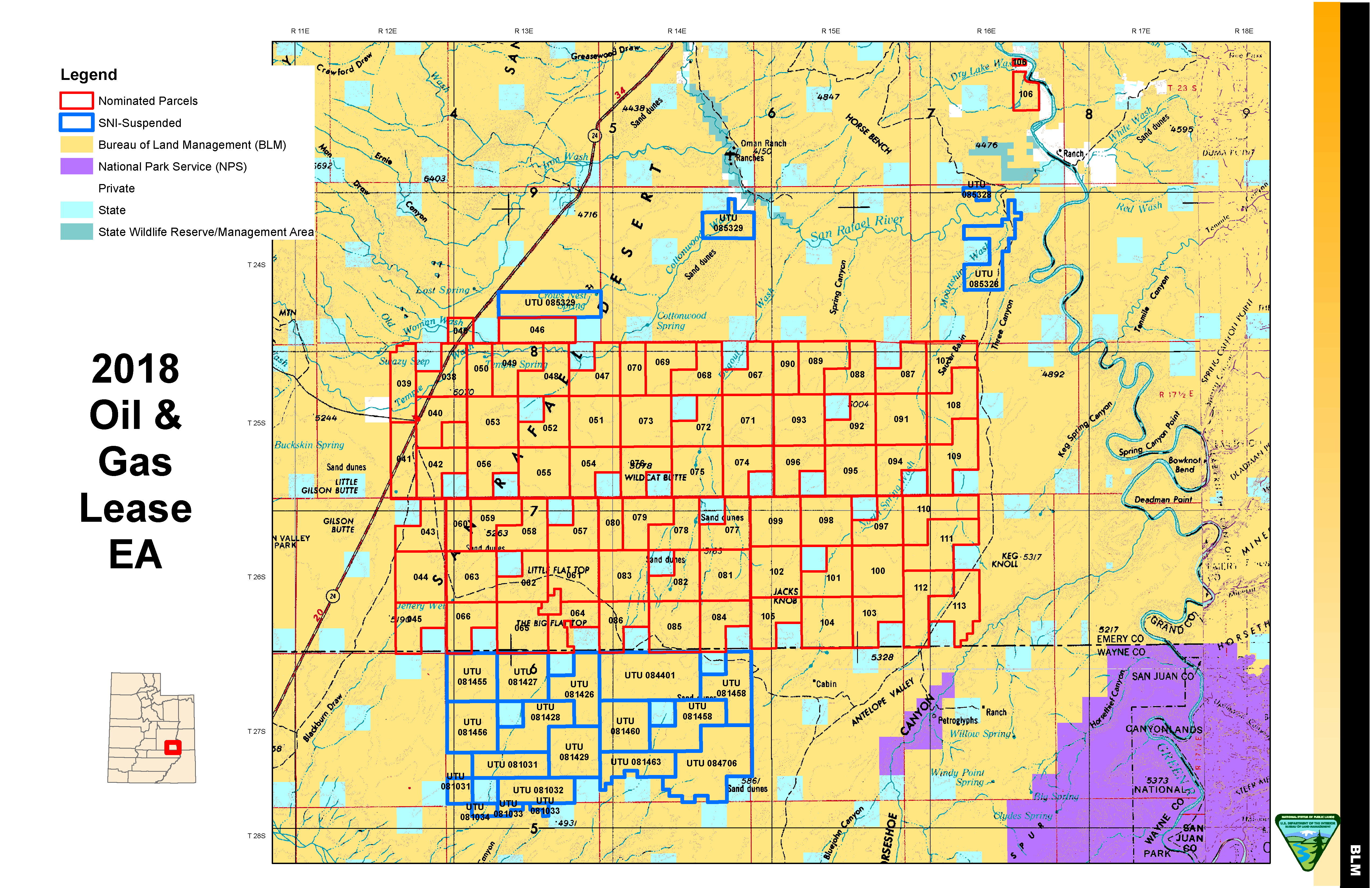 BLM to offer over 200,000 acres in southeastern Utah for oil and gas ...