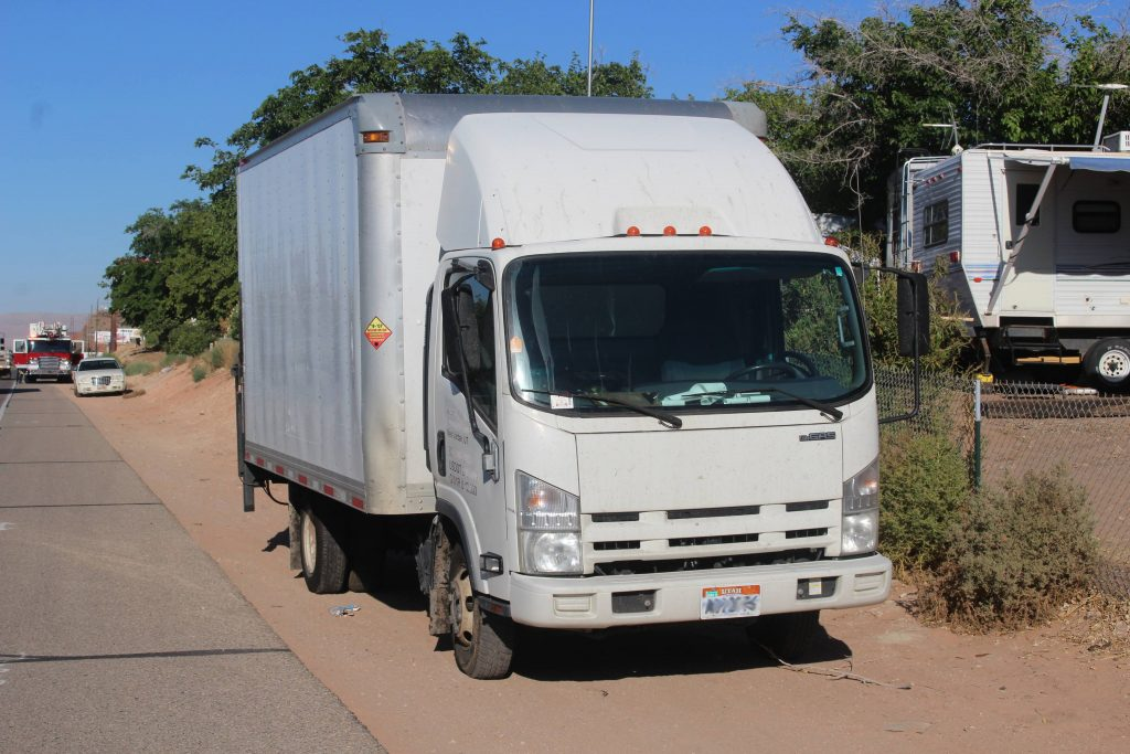 Delivery truck clips bicyclist on red hills parkway sends for Parkway motors cedar city