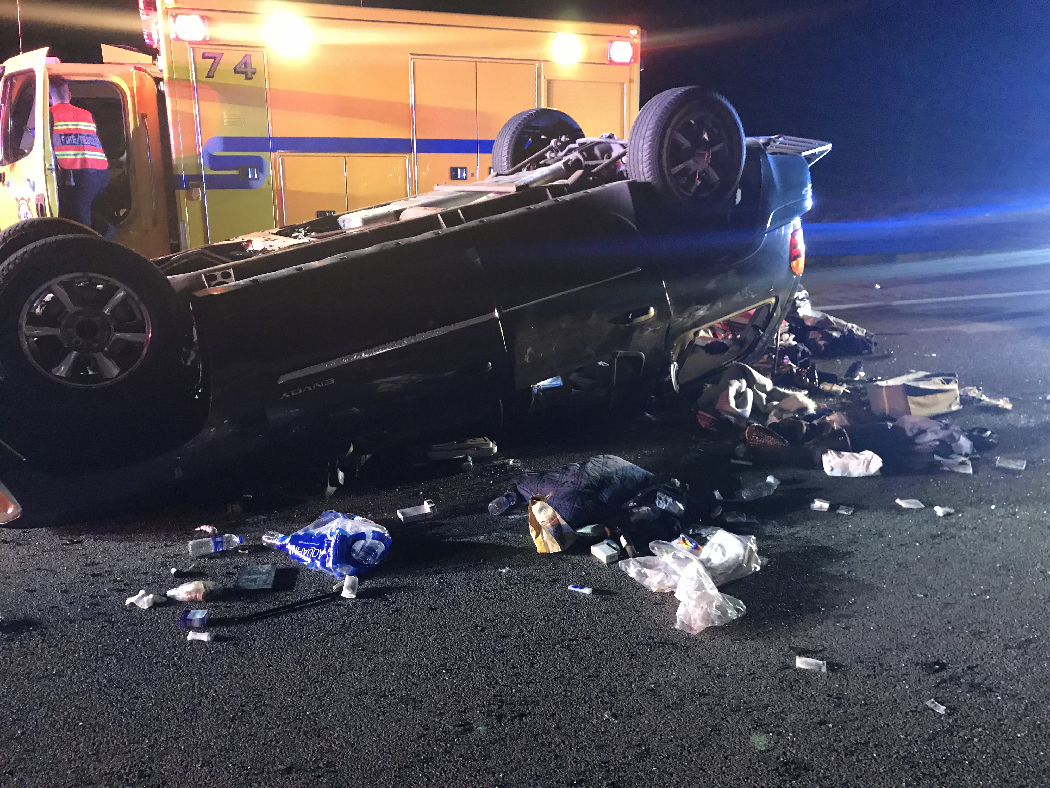 Rollover On I Sends Four To Hospital Including Infant St - Mesquite car show 2018