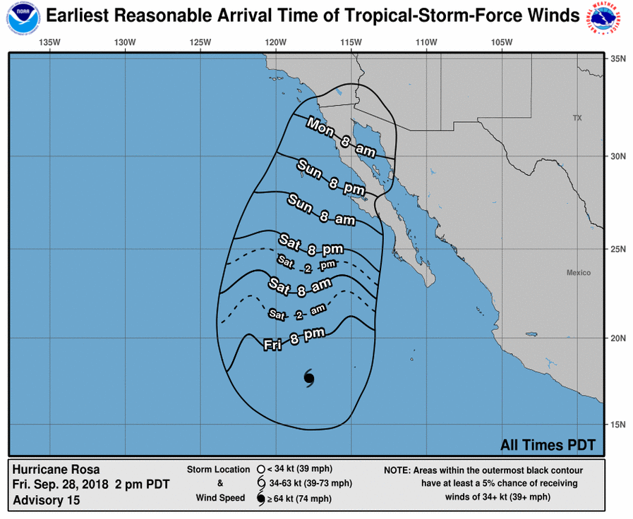 Moisture from Hurricane Rosa bringing high possibility of flooding ...