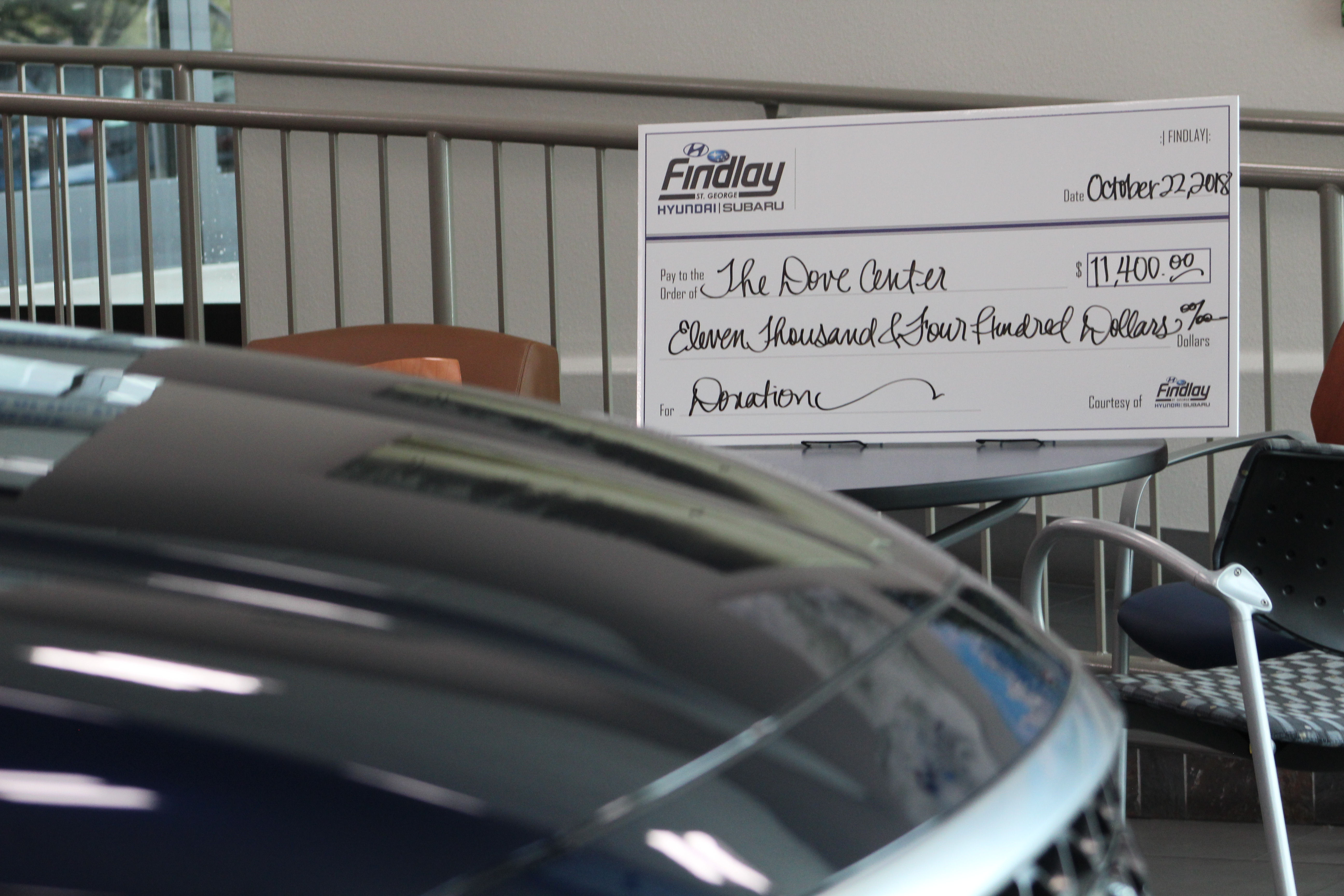 Superb A Check Presentation Was Held At Findlay Hyundai For The Dove Center Of St.  George, Oct. 22, 2018, St. George, Utah | Photo By Andrew Pinckney, ...