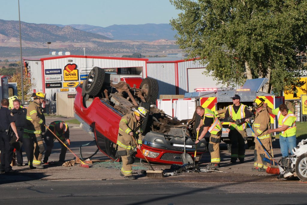 2 Vehicles Collide In Cedar City Intersection With Enough