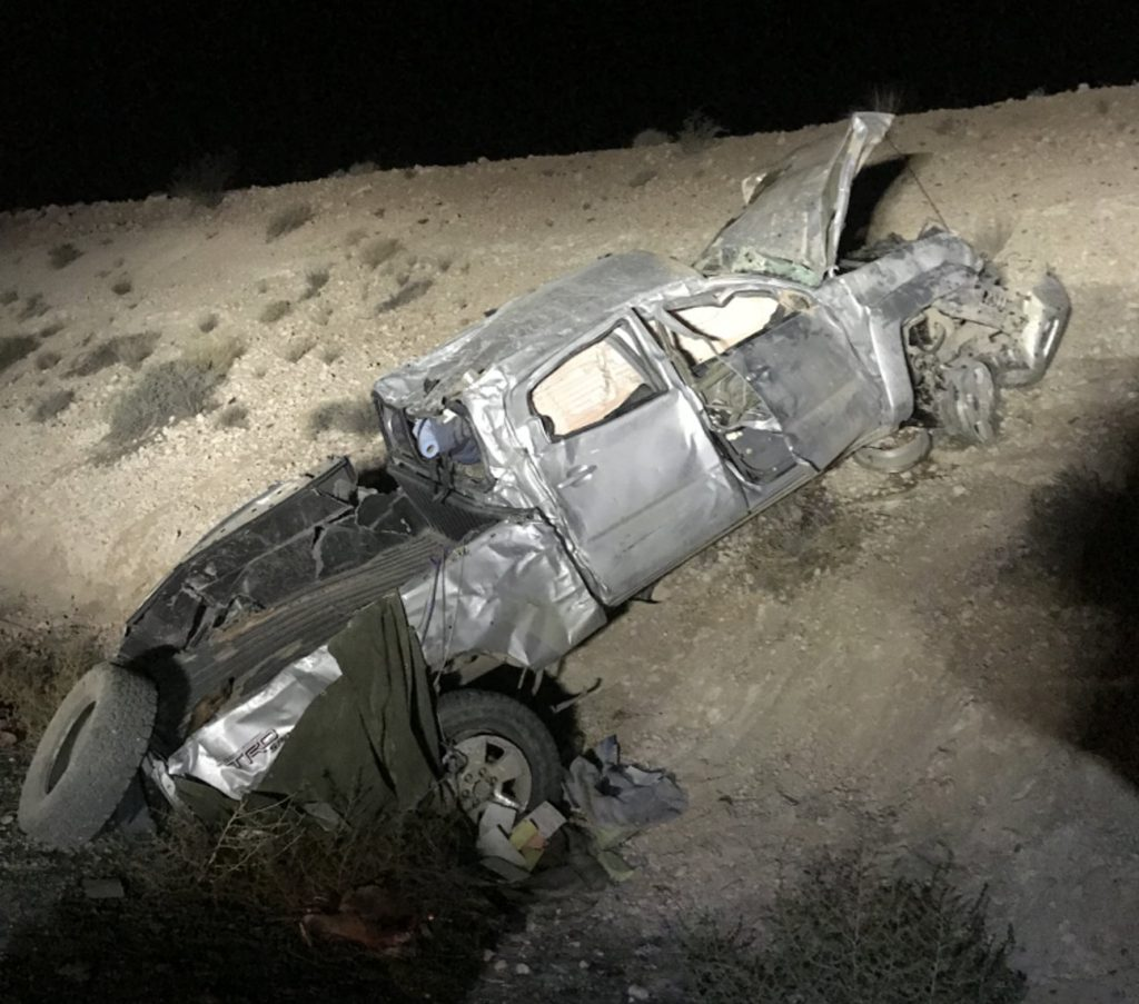 Highway collision near Mesquite leaves 2 with severe