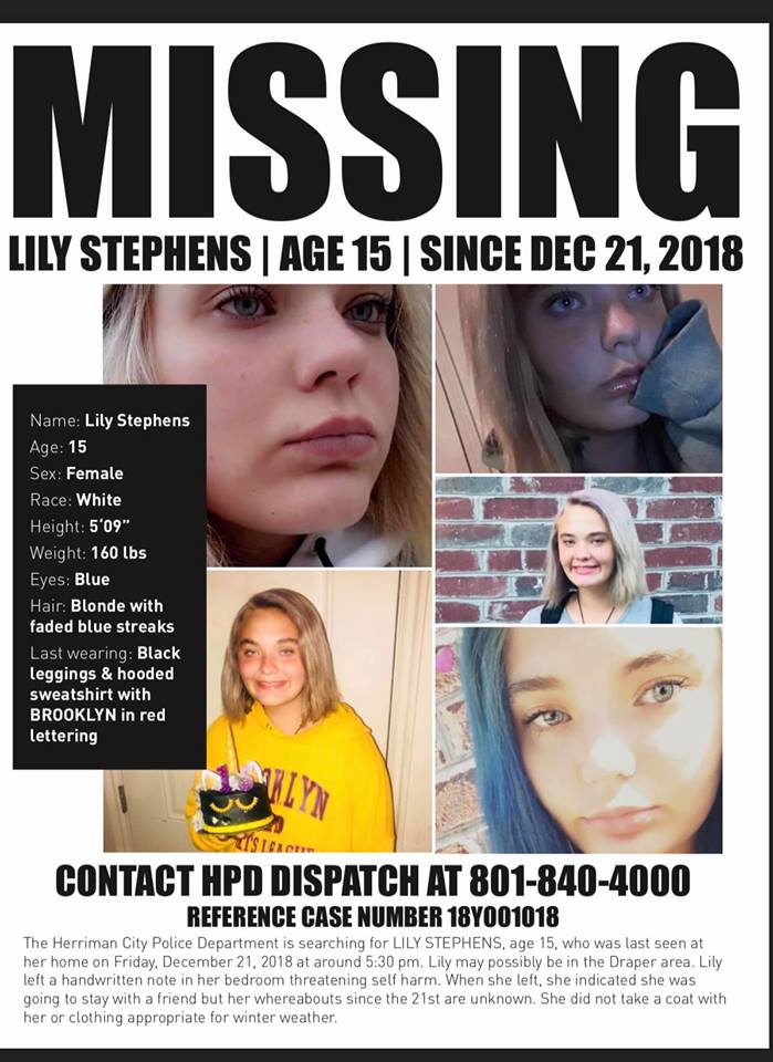UPDATE: Missing Herriman teenager found safe – St George News